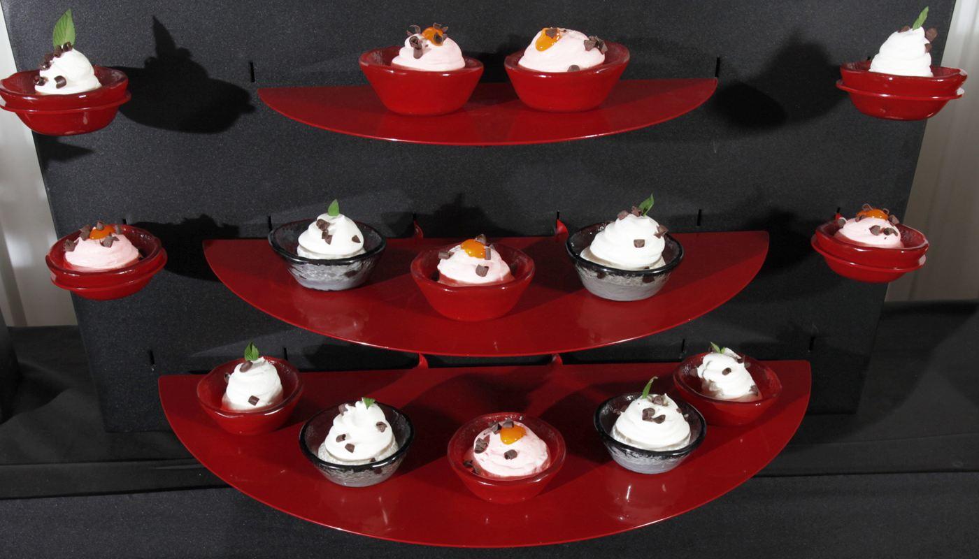 Dessert canape mini bowls buffetize for Canape desserts