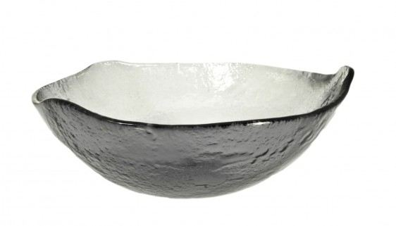 Gray Big Glass Bowls