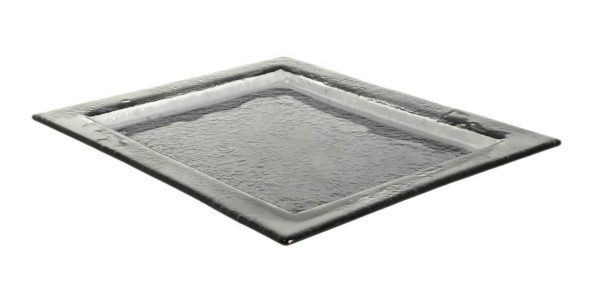 Gray Big Rectangular Glass Platters