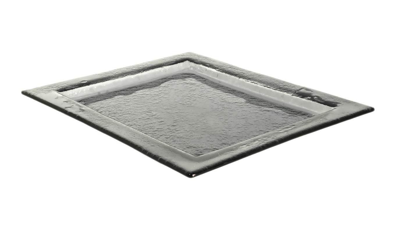Gray Big Rectangular Glass Platters