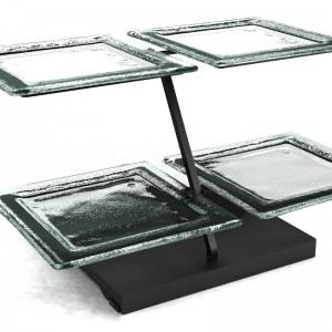 clear 2 Tier Plate Stands