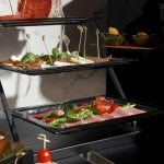 clear three tier plate stands