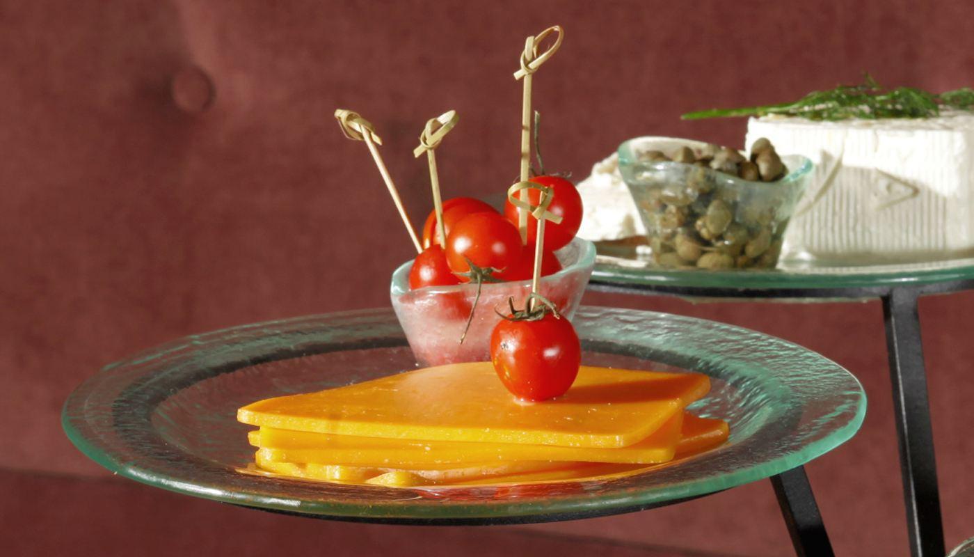 Cheese Medium Round Glass Platters