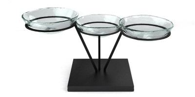 clear bowl buffet display risers