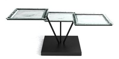clear plate buffet display risers