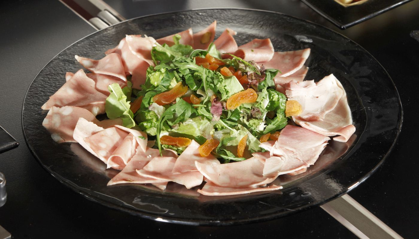 Cold Cuts Big Round Glass Plates