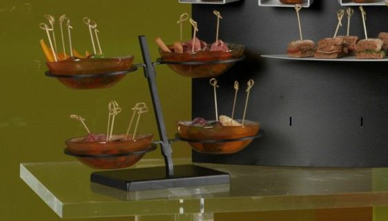 finger food buffet dressing bowl stands