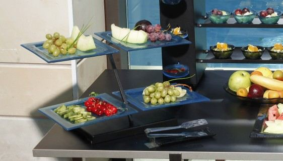 fruit 2 tier plate stands