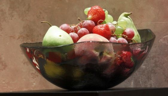 Fruit Buffet Big Glass Bowls
