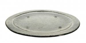 Gray Big Round Glass Plates