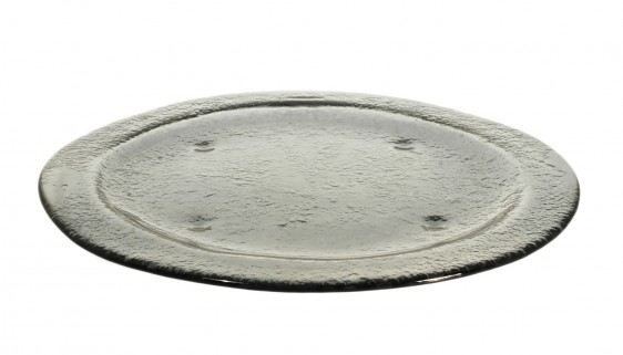 Gray Big Round Glass Plates