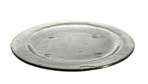 Gray Medium Round Glass Platters