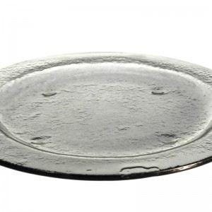 Gray Medium Round Glass Platters