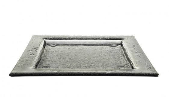 Gray Medium Square Glass Platters