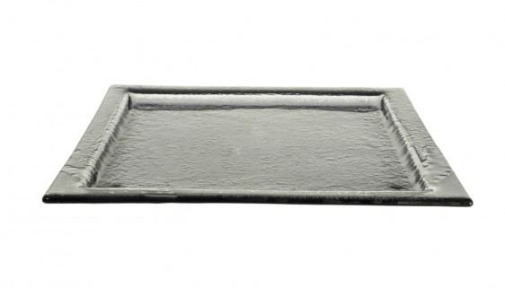 Gray Square Glass Platters