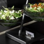 clear 2 tier bowl stands