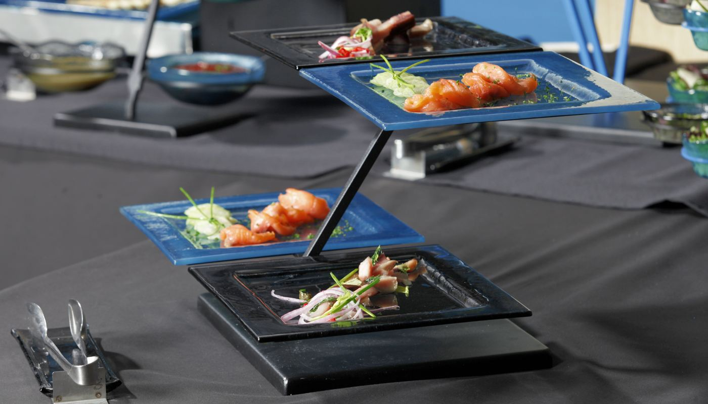 seafood 2 tier plate stands