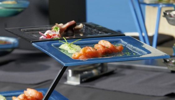 Sushi Medium Square Glass Platters