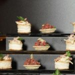 Gray Small Buffet Display Steps