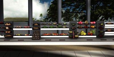 breakfast buffet display