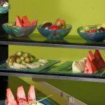 Gray Big Buffet Glass Steps