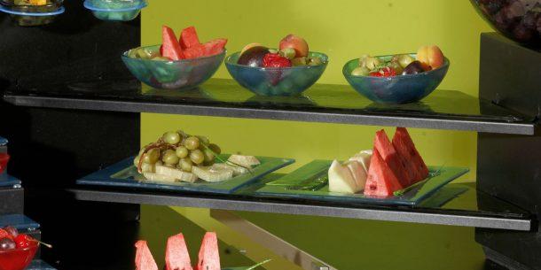 Blue Big Buffet Glass Steps