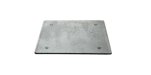 Black Square Display Glass Step