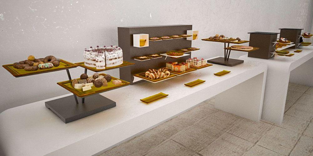 cake risers big coffee break buffet system