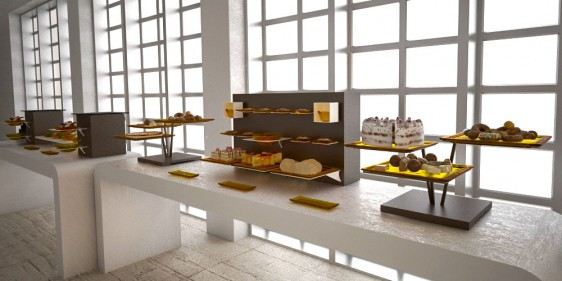 cake stand big coffee break buffet system