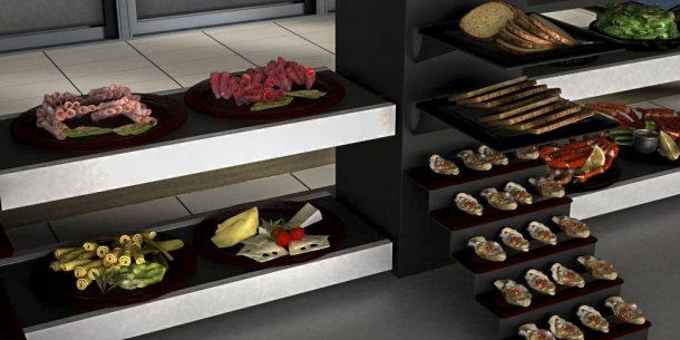 cheese platters breakfast buffet system
