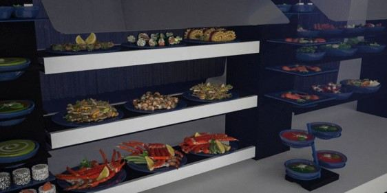 cold cuts banqueting buffet system