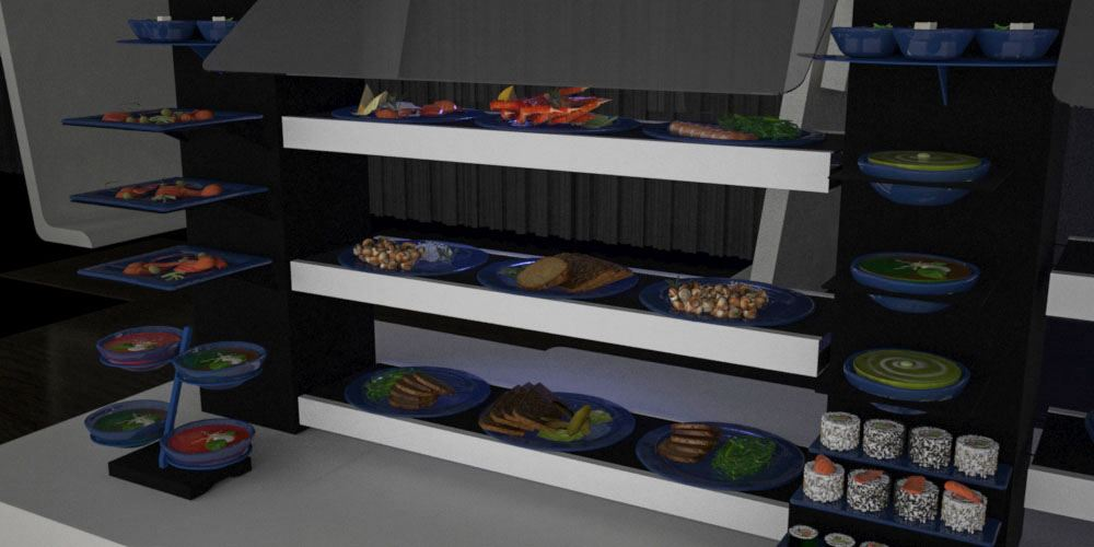 cold food banqueting buffet system
