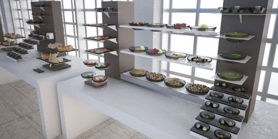 composed salads brunch buffet system