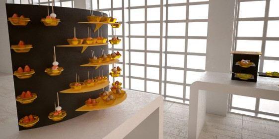 dessert display small coffee break buffet system