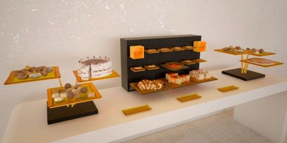 dessert station small coffee break buffet system