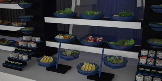 dressing bowls banqueting buffet system