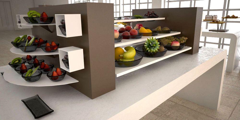 fruit salad big coffee break buffet system