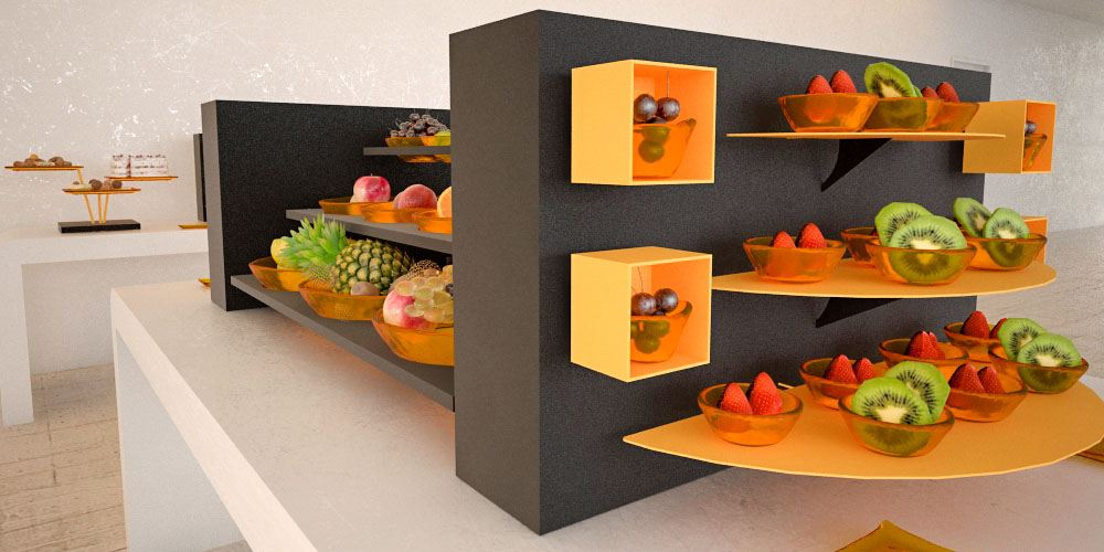 fruit salads small coffee break buffet system
