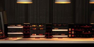 lounge buffet display