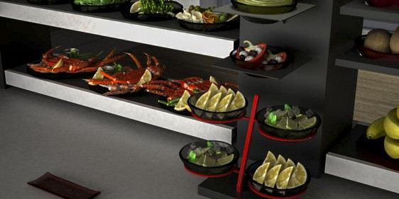 seafood display breakfast buffet system