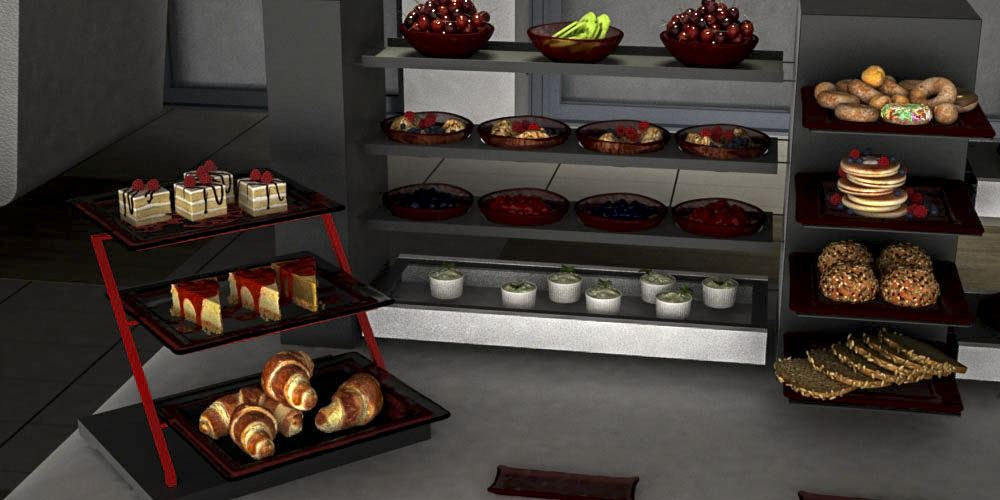 tier riser breakfast buffet system
