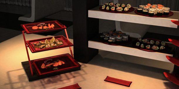 tier riser lounge buffet system