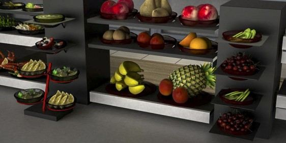 whole fruit breakfast buffet system